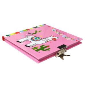 Girls Lock and Key Diary My Pretty Llama 2