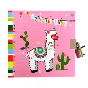 Girls Lock and Key Diary My Pretty Llama