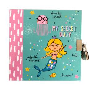 Girls Lock and Key Diary Mermaid Dream Big