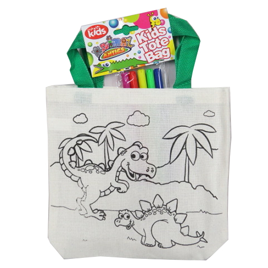 Colour Your Own Tote Bag - Dinosaurs
