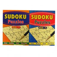 Large Sudoku Puzzle Books Book 1 and 2