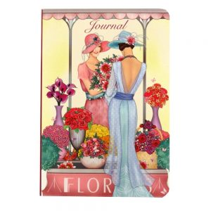 A5 Notebook Claire Coxon Art Deco Florist Ladies