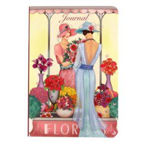 A5 Notebook Claire Coxon Art Deco Florist Ladies