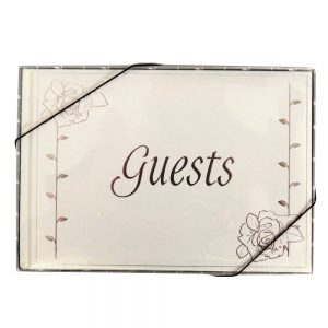 Wedding Guest Book English Rose