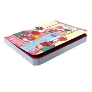A6 Notebook Claire Coxon Art Deco Florist Ladies - Front 2