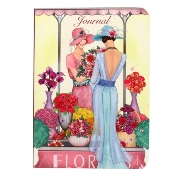 A6 Notebook Claire Coxon Art Deco Florist Ladies