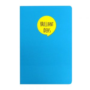 Grafix A5 Speech Quote Notebook Brilliant Ideas