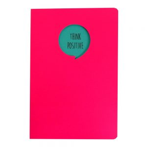 Grafix A5 Speech Quote Notebook Think Positive