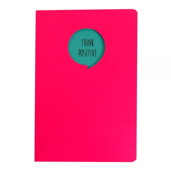 Grafix A5 Speech Quote Notebook Think Positive