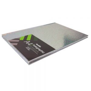Grafix A4 Holographic Speckle Notebook Silver - Front 2