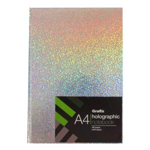 Grafix A4 Holographic Speckle Notebook Silver
