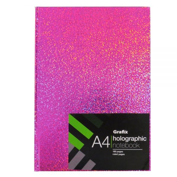 Grafix A4 Holographic Speckle Notebook Pink