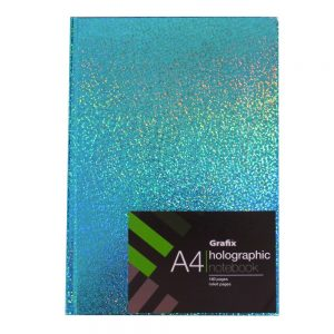 Grafix A4 Holographic Speckle Notebook Green