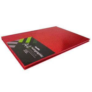 Grafix A4 Holographic Speckle Notebook Red - Front 2