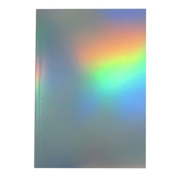 Grafix A5 Metallic Dreams Notebook Silver Green