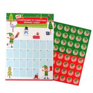Elf Christmas Reward Chart Front 2