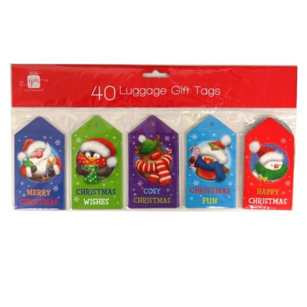 Christmas Luggage Gift Tags Kids Cosy