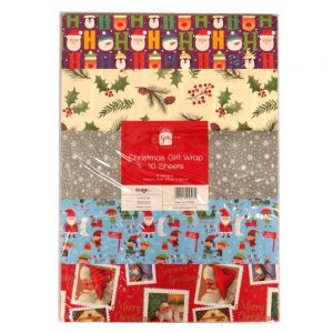 Christmas Gift Wrap Paper 10 Sheets