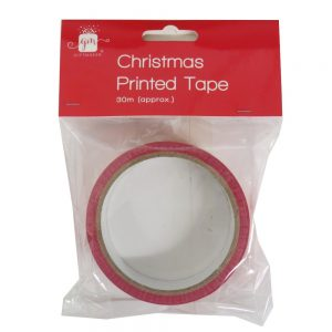 Christmas Printed Gift Tape No Peeking