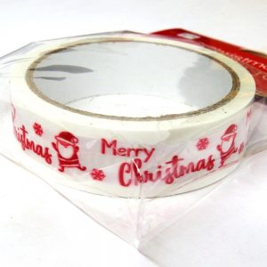 Christmas Printed Gift Tape Merry Christmas Front 2
