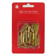 Christmas Card Holder Pegs 18 Pack Gold