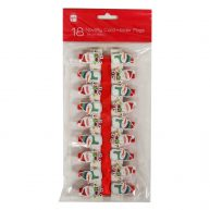 Christmas Novelty Card Peg Holders Santa Snowmen 18 Pack