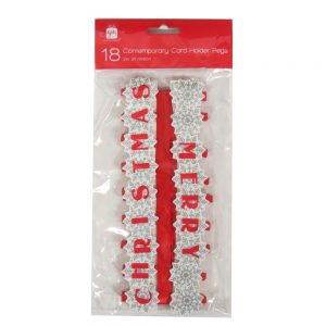 Christmas Novelty Card Peg Holders Contemporary 18 Pack
