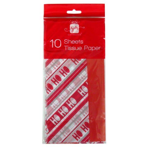 Christmas Printed Tissue Paper Ho Ho Ho