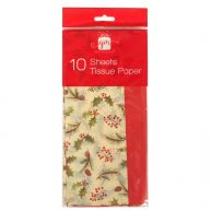 Christmas Printed Tissue Paper Holly