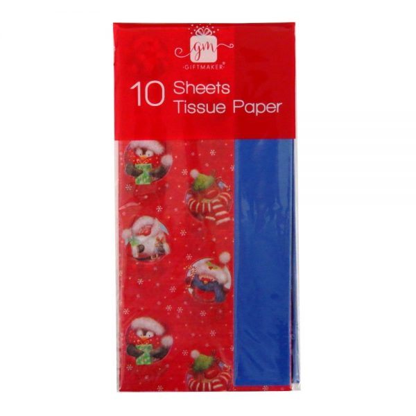 Christmas Printed Tissue Cute Characters