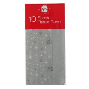 Christmas Printed Tissue Snowflakes