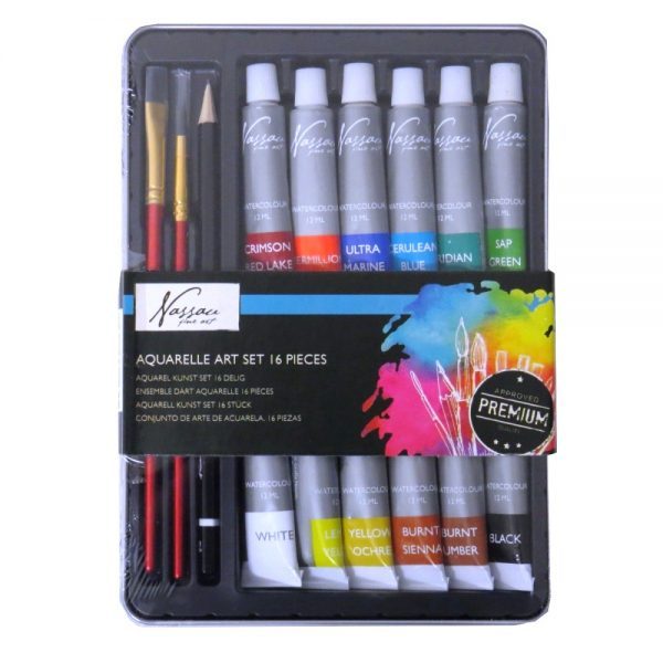 Nassau Fine Aquarelle Paint Art Set 16 Piece