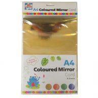 Kids Creat A4 Coloured Mirror Card - Front