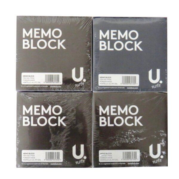 White Paper Memo Block, Pack of 4