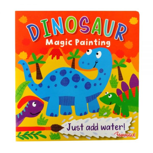Dinosaur Magic Painting Book 24 Pages By Squiggle Paper