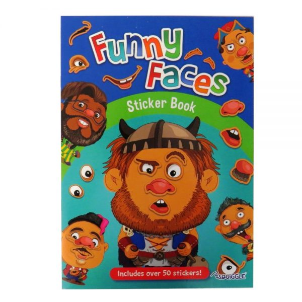 Funny Faces Sticker Book Boys Themed