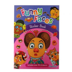 Funny Faces Sticker Book Girls Themed Front