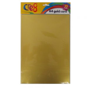 A4 Gold Card 10 Pack