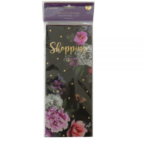 Magnetic Shopping List Beautiful Blooms Front