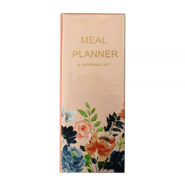 Meal Planner and Shopping List Midnight Blues Front