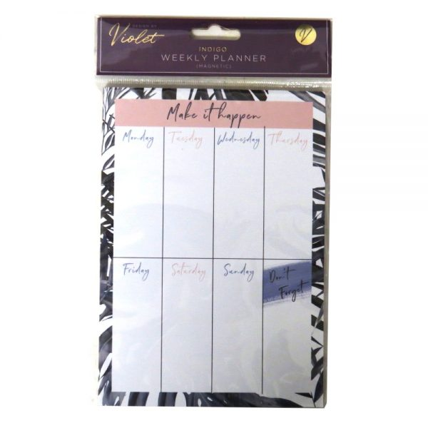 Magnetic Weekly Planner Indigo Front