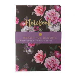 A5 Notebooks Pack of 3 Beautiful Blooms Front