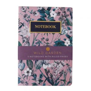 A5 Notebooks Pack of 3 Wild Garden Front
