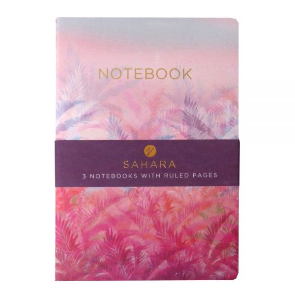 A5 Notebooks Pack of 3 Sahara Front