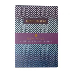 A5 Notebooks Pack of 3 New Wave Front