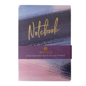 A5 Notebooks Pack of 3 Indigo Front