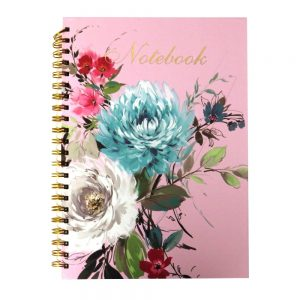 A4 Wirebound Notebook Vintage Floral