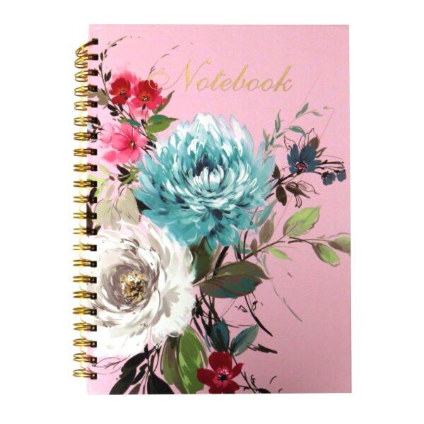 A4 Wirebound Notebook Vintage Floral