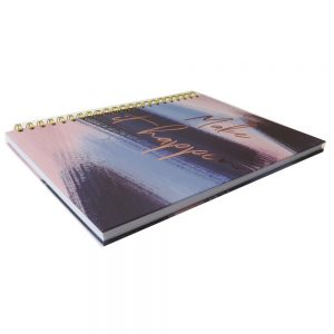 A4 Wirebound Notebook Indigo - Front 2