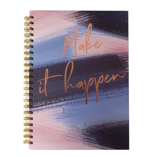 A4 Wirebound Notebook Indigo - Front